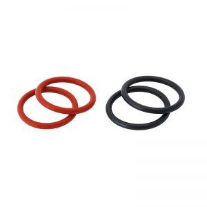 2122 Ersatzgummiringe Bucephalus - Set, 2 Paar (schwarz und rot)